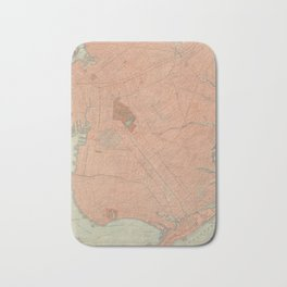 Vintage Map of Brooklyn NY (1902) Bath Mat