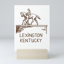 Statue of Secretariat Lexington Kentucky T shirt Tshirt tee Mini Art Print