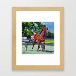 The Backstretch Framed Art Print