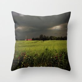 Rolling Thunder, Warm Winds Throw Pillow