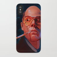 fear and loathing iPhone & iPod Cases featuring Fear & Loathing by RileyStark