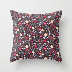 Flowers and Vines Pattern Throw Pillow