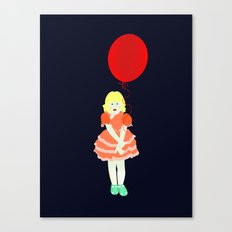 En röd ballong Canvas Print