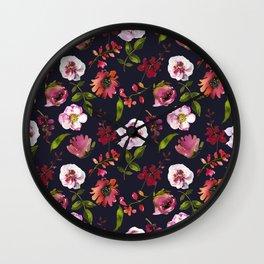 School Dayz Vintage Floral Watercolor Wall Clock