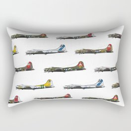 Classic B-17 Flying Fortress Continuous Pattern Rectangular Pillow