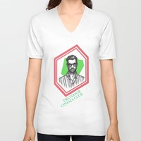 kevin russ V-neck T-shirts featuring Kevin Baird by AnimatedWhale