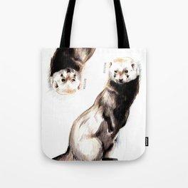 Steppen ferret (Mustela eversmanii) Tote Bag
