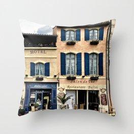 Shops Throw Pillow