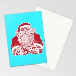 Tattooed Santa Stationery Cards