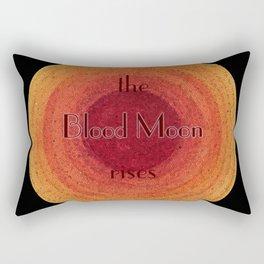 Blood Moon on the Rise Rectangular Pillow