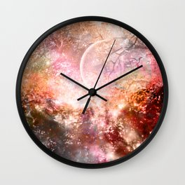 Negative Fantasy Wall Clock