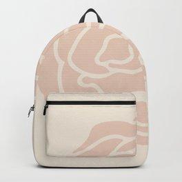Rose Vintage Pink on Petal Cream Backpack