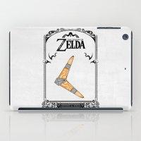 the legend of zelda iPad Cases featuring Zelda legend - Boomerang by Art & Be