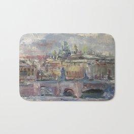 Oil Painting On Canvas City Landscape Artwork Impressionism Cozy Home Decor Bedroom Decoration Bath Mat