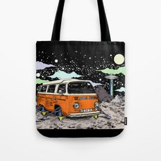 Moon Ride Color Tote Bag
