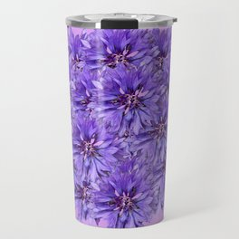 Purple Flower Ball Illustration - Lilac Background #decor #society6 #buyart Travel Mug