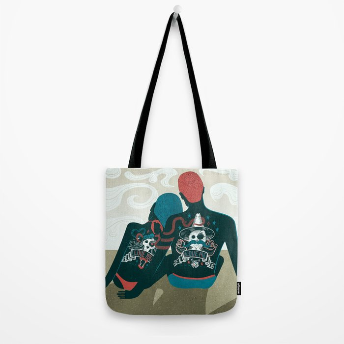Love You / Love Me - Us and Them Tote Bag
