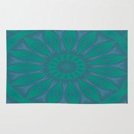 Aurora Kaleidescope With Flower Petal Design Rug