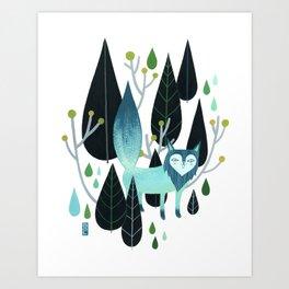 Foxy Forest Art Print
