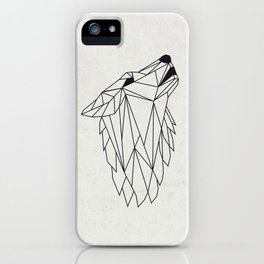 Geometric Howling Wild Wolf iPhone Case