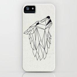 Geometric Howling Wild Wolf iPhone Case