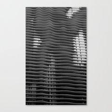 Wavy/Aqua Building Photo, Chicago, Architecture, Black and White Canvas Print