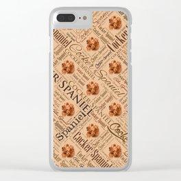 Cocker Spaniel Word Art Clear iPhone Case