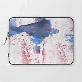 Pink blue streaked abstract Laptop Sleeve