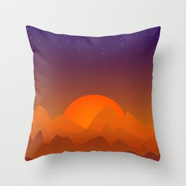 Slumbering Hills, Southwestern Landscape Art Throw Pillow