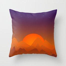 Slumbering Hills, Southwestern Landscape Art Throw Pillow
