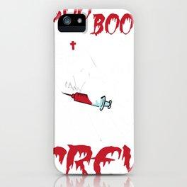 Boo Boo Crew scary nurse Halloween Ghost Nurse iPhone Case