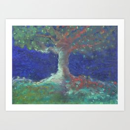 Between the Tree Art Print