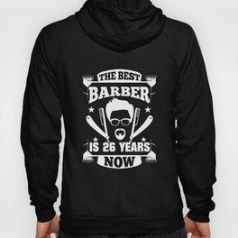 26th Birthday Present Barber 26 Years Barbershop Hoody