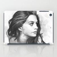 minimalist iPad Cases featuring Anne Hathaway minimalist illustration by Thubakabra