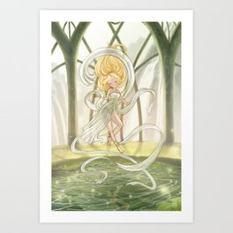 Elven priest Art Print
