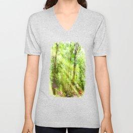Spring Green Forrest Watercolor Light Unisex V-Neck