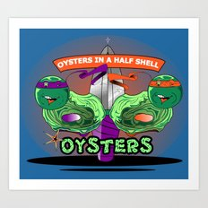 Oysters In A Halfshell Art Print