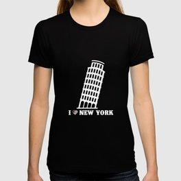 I Love New York Tower Of Pisa Pun Prankster T-shirt