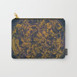 Vintage Constellations & Astrological Signs | Purple Galaxy Carry-All Pouch