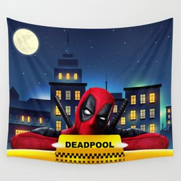 Dead Pool Taxi Night Wall Tapestry