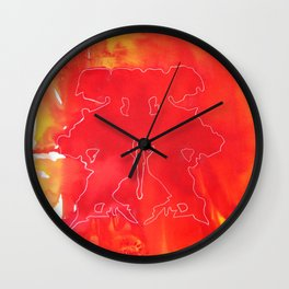 Abstract dawn Wall Clock