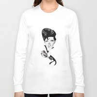 elvis Long Sleeve T-shirts featuring Elvis by Bady Church