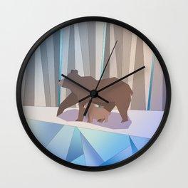 Winter bears Wall Clock