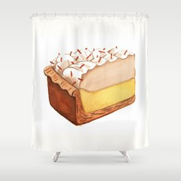 Coconut Cream Pie Slice Shower Curtain