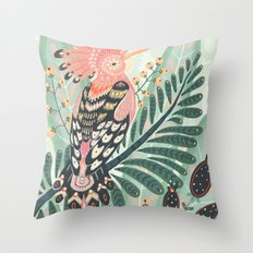 Hoopoe Bird Throw Pillow