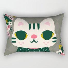 Cat in a Sweater / Cute Animal Rectangular Pillow
