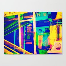 Industrial Abstract Blue Canvas Print
