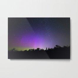 Purple Northern Lights   Michigan Metal Print