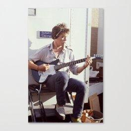 Robert Downey Jr.  on set of Tuff  Turf 1985 Canvas Print