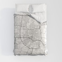 Minimal City Maps - Map Of Rochester, New York, Untited States Comforters